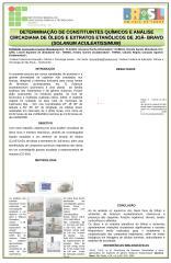 DETERMINAÇÃO DE CONSTITUINTES QUÍMICOS E ANÁLISE CIRCADIANA DE ÓLEOS E EXTRATOS ETANÓLICOS DE JOÁ- BRAVO (SOLANUM ACULEATISSIMUM).ppt