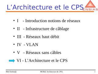 L'Architecture et le CPS.ppt