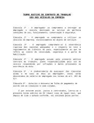 TERMO DE RESPONSABILIDADE UTILIZAÇÃO VEICULO DA EMPRESA.RTF